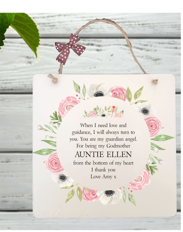 Godmother Personalised Plaque PureEssenceGreetings