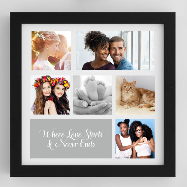 Heart Photo Collage Personalised Framed Print | 18 Images PureEssenceGreetings
