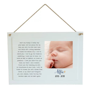 Kisses from Above Children's Remembrance Personalised Plaque PureEssenceGreetings