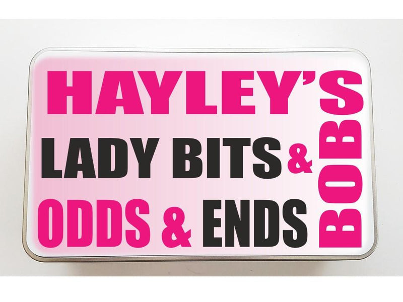 Lady Bits & Bobs Personalised Keepsake Tin - PureEssenceGreetings