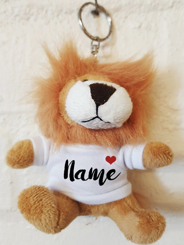 Personalised Animal Keyring ~ Soft Toy Keyring, Bag Charm - PureEssenceGreetings