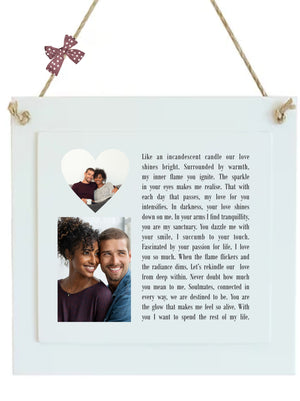 Love Poem Gift | Sparkle Personalised Plaque PureEssenceGreetings