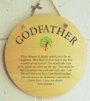 Love You Dearly Godfather Personalised Plaque PureEssenceGreetings