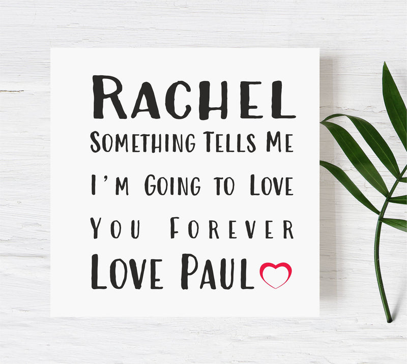Love You Forever Personalised Card PureEssenceGreetings