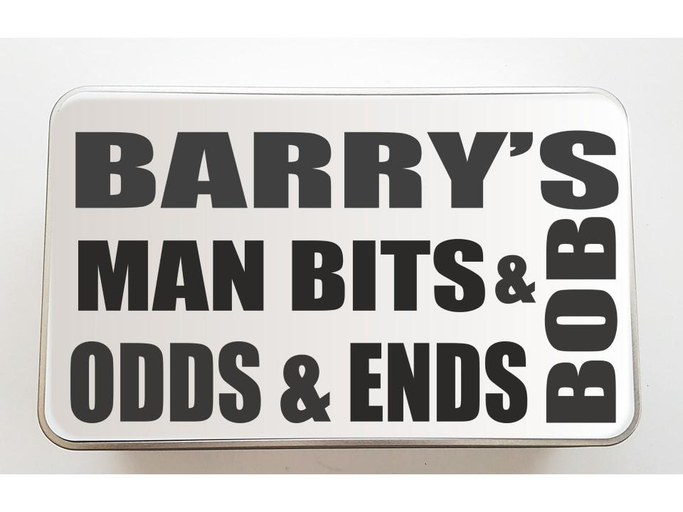 Man Bits & Bobs Personalised Keepsake Tin