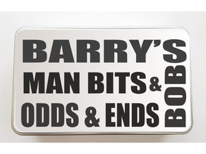 Man Bits and Bobs Personalised Keepsake Tin - PureEssenceGreetings