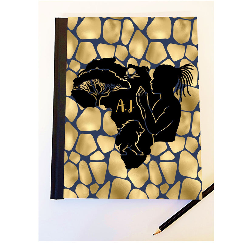 Men's Personalised African Design Notebook PureEssenceGreetings