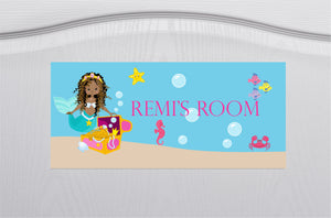 Mermaid Children's Door Sign PureEssenceGreetings