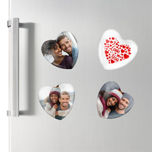 Mini Photo Heart Plaques | Fridge Magnets | 4PK PureEssenceGreetings