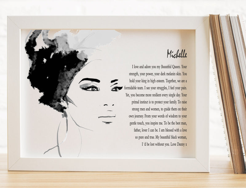 My Beautiful Queen Personalised Love Poem PureEssenceGreetings