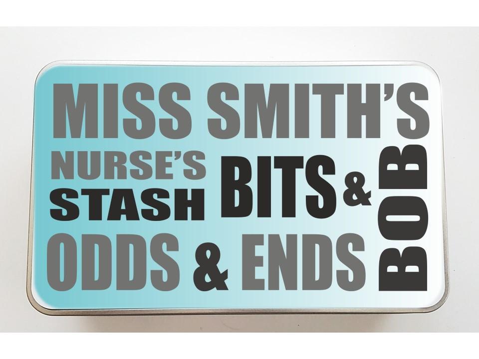 Personalised Bits and Bobs Thank You Tin | Carer | Nurse | Doctor - PureEssenceGreetings