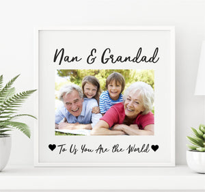 Nan & Grandad Personalised Photo Plaque PureEssenceGreetings