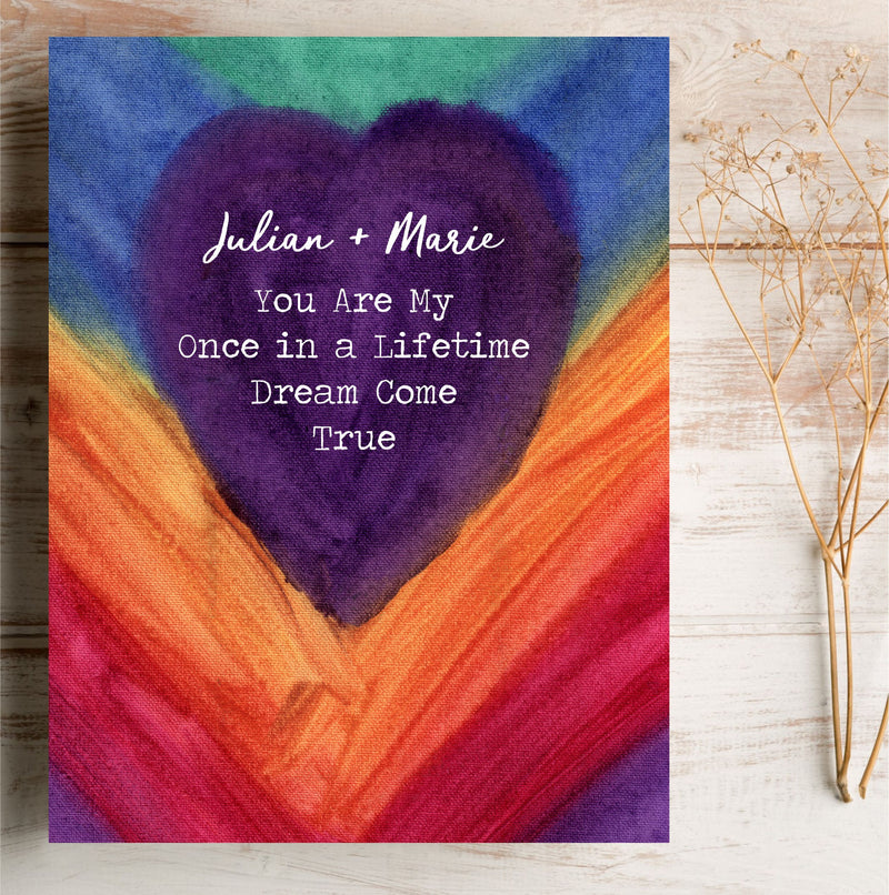 Once in a Lifetime Personalised Love Card PureEssenceGreetings