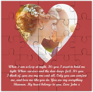 One Wish Love Message Personalised Jigsaw PureEssenceGreetings