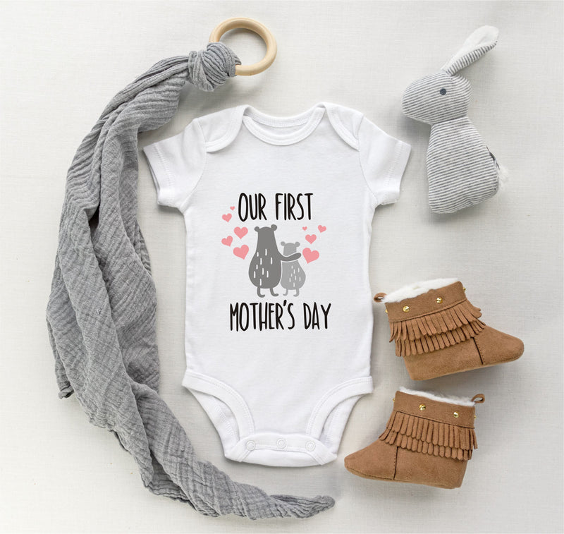 Our First Mother's Day Personalised  Babygro PureEssenceGreetings