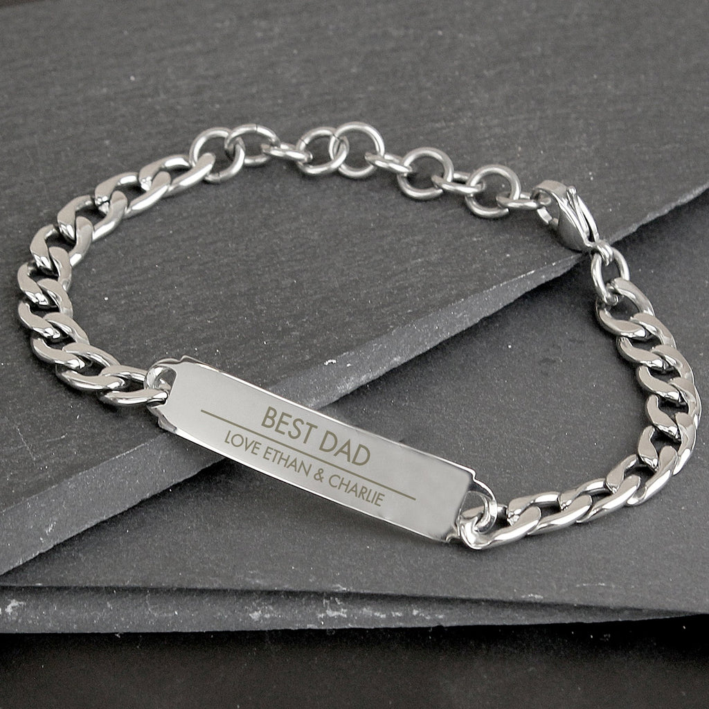 Personalised Classic Stainless Steel Unisex Bracelet - PureEssenceGreetings