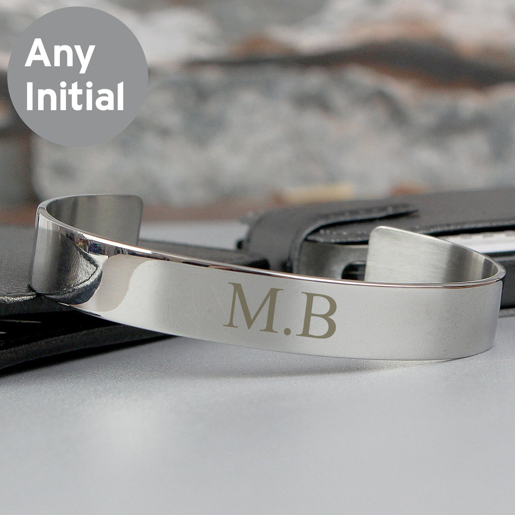 Personalised Initial Stainless Steel Bangle - PureEssenceGreetings