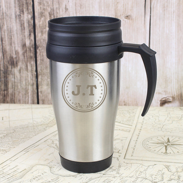 Personalised Monogram Travel Mug - PureEssenceGreetings
