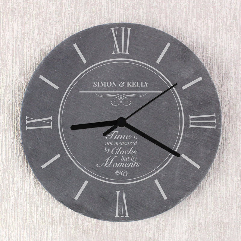 Personalised Moments Slate Clock - PureEssenceGreetings
