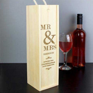 Personalised Couples Bottle Presentation Box - PureEssenceGreetings