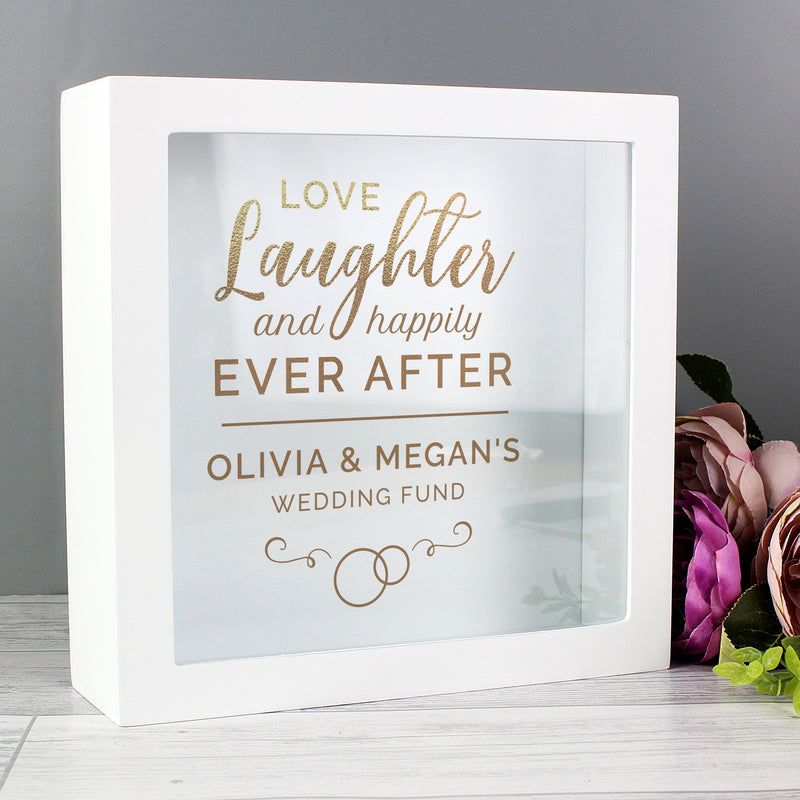 Personalised Happily Ever After Wedding Fund Box - PureEssenceGreetings
