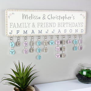 Personalised Birthday Planner Plaque with Customisable Discs - PureEssenceGreetings