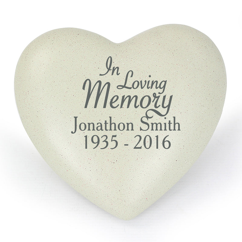 In Loving Memory Personalised Heart Memorial - PureEssenceGreetings
