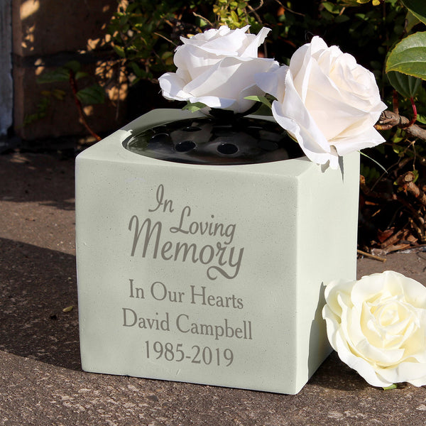 In Loving Memory Personalised Memorial Vase - PureEssenceGreetings