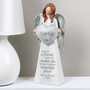Personalised 'A Friend Like You' Angel Ornament - PureEssenceGreetings