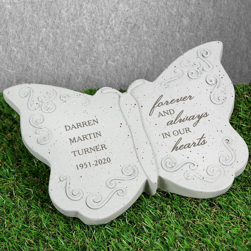 Forever and Always Memorial Personalised Butterfly - PureEssenceGreetings