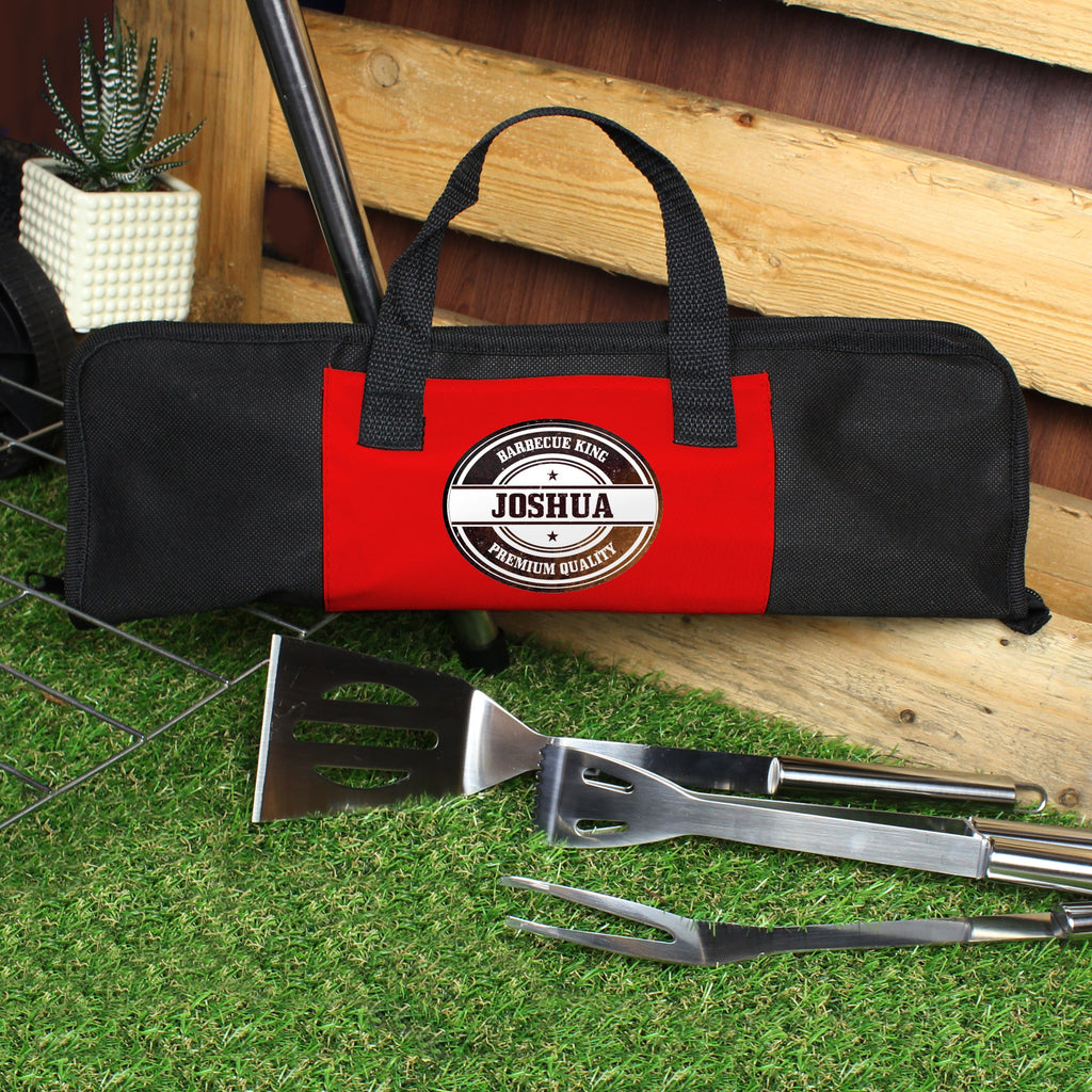 Personalised Stamp Stainless Steel BBQ Kit - PureEssenceGreetings