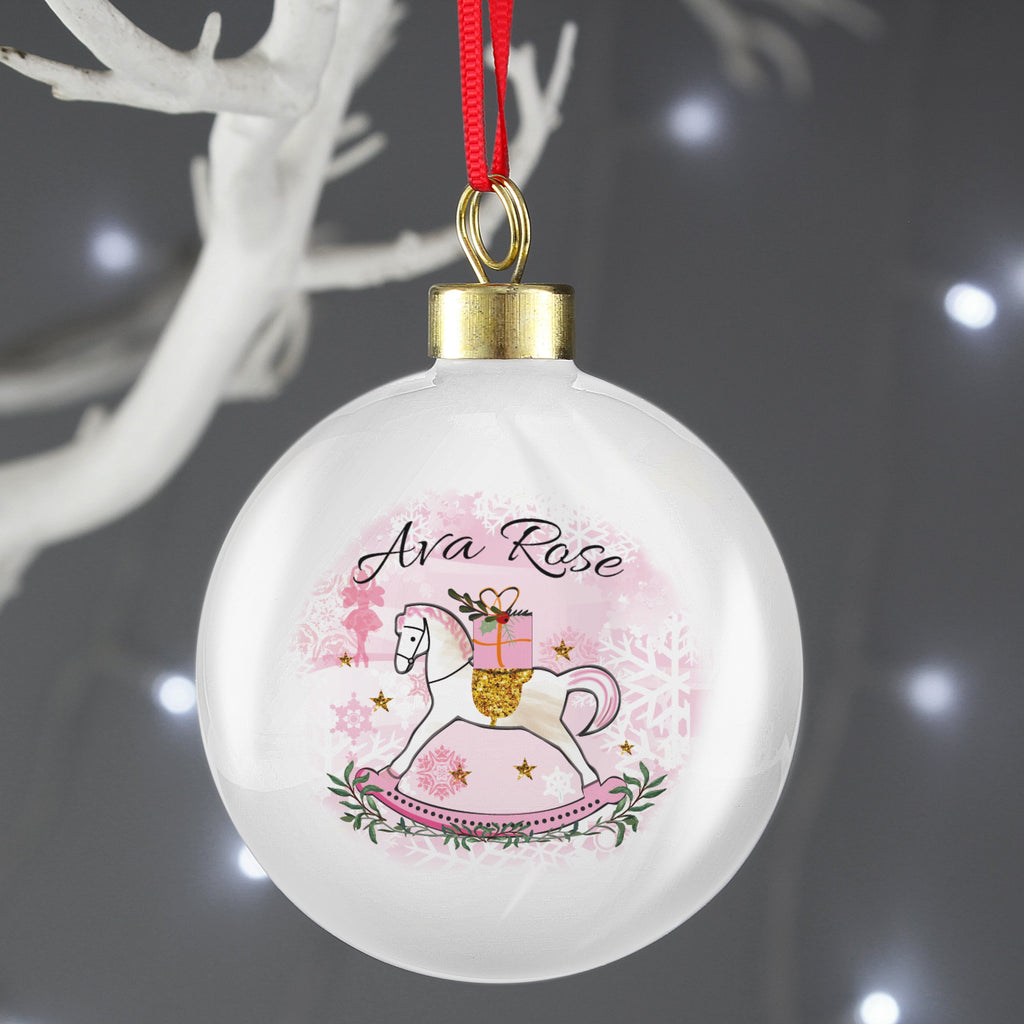 Personalised Rocking Horse Bauble