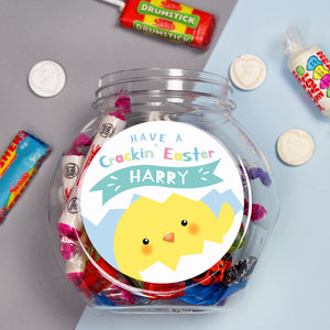 Personalised Have A Cracking Easter Sweets Jar - PureEssenceGreetings