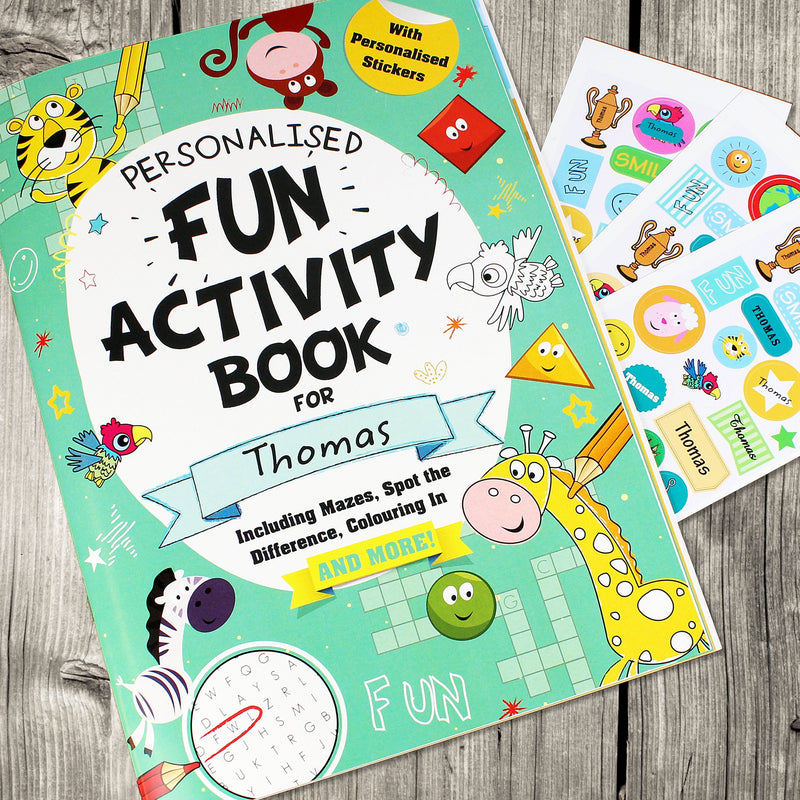 Personalised Activity Book with Stickers - PureEssenceGreetings