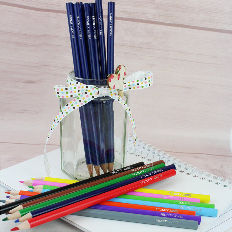 Personalised Pack of 20 HB Pencils & Colouring Pencils - PureEssenceGreetings