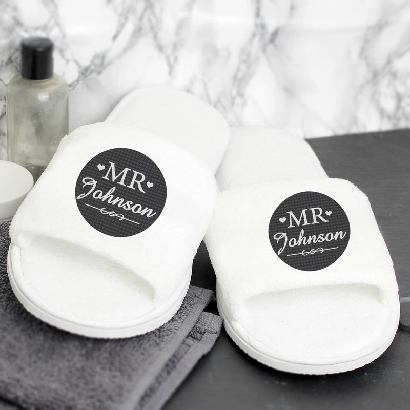 Personalised Mr Velour Slippers - PureEssenceGreetings