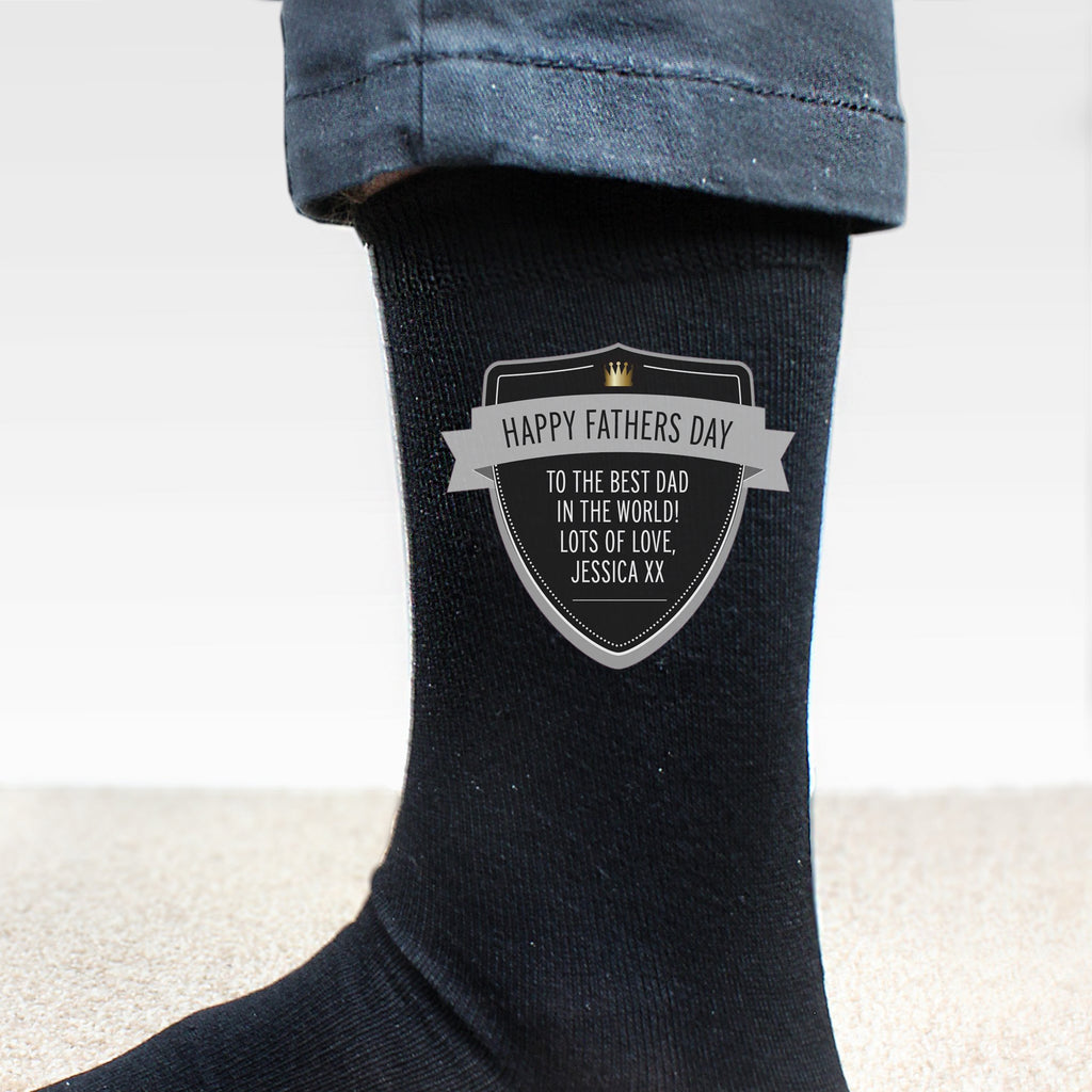Personalised Classic Shield Men's Socks - PureEssenceGreetings