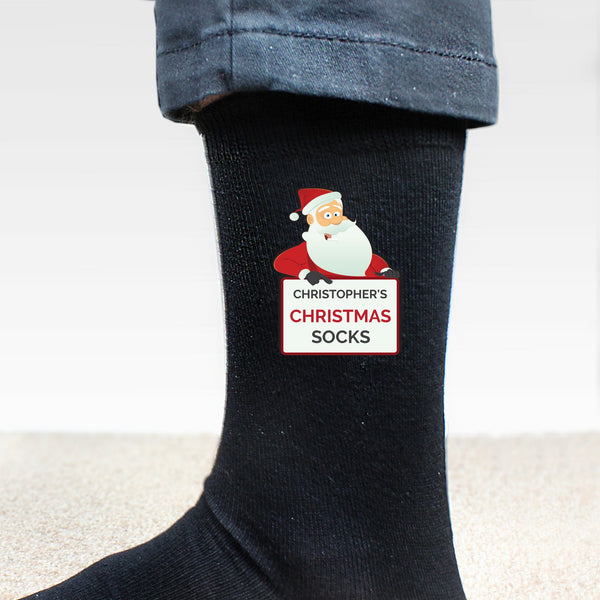 Personalised Santa Claus Christmas Socks - PureEssenceGreetings