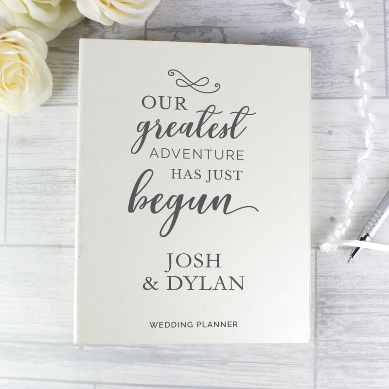 Personalised Our Greatest Adventure Wedding Planner - PureEssenceGreetings
