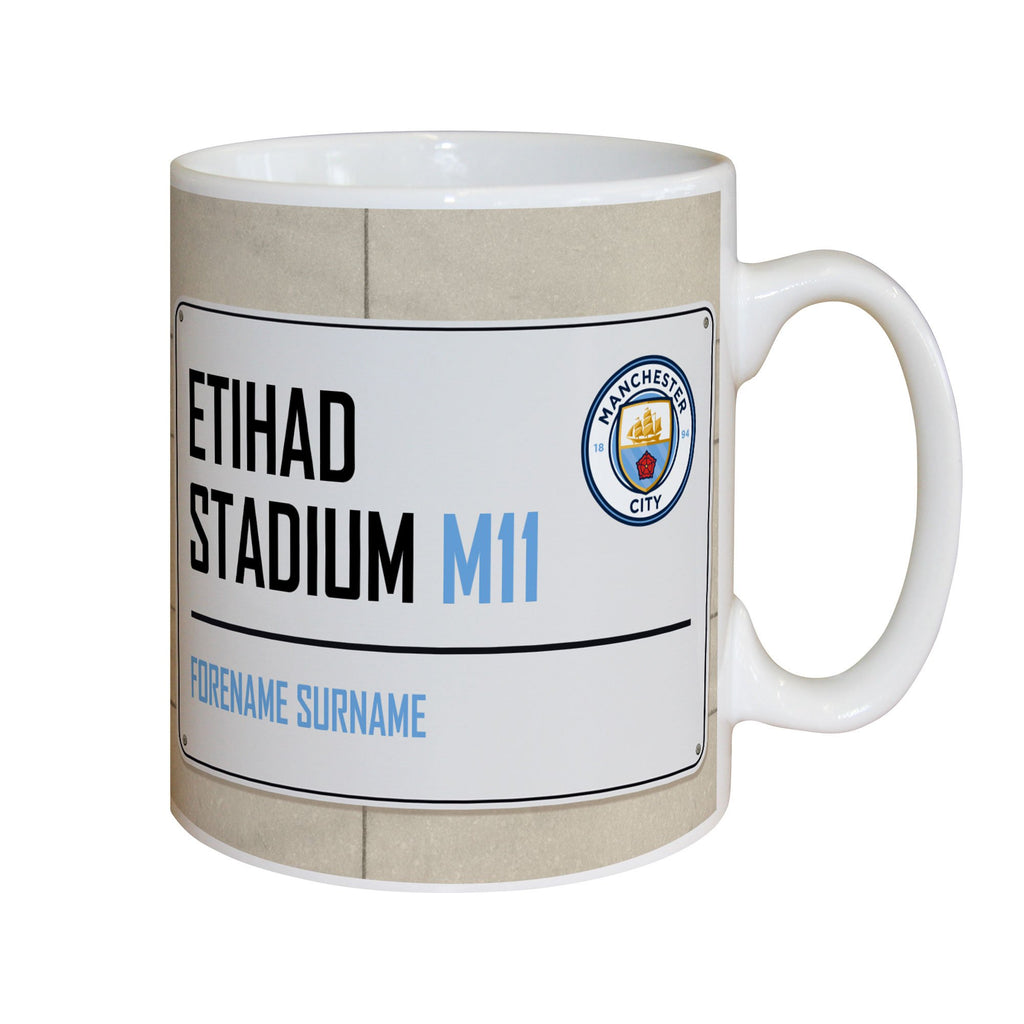 Football Club Street Sign Mug - PureEssenceGreetings