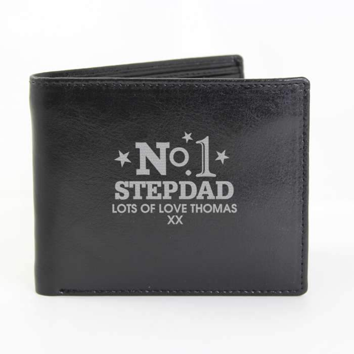 Personalised No.1 Leather Wallet - PureEssenceGreetings