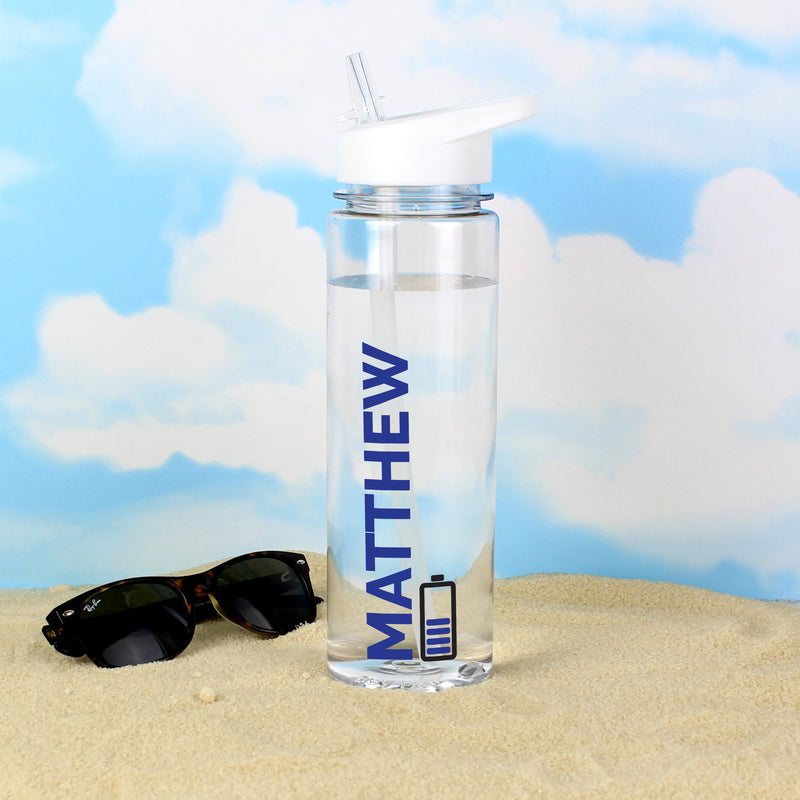 Personalised Blue Fuel Island Water Bottle - PureEssenceGreetings