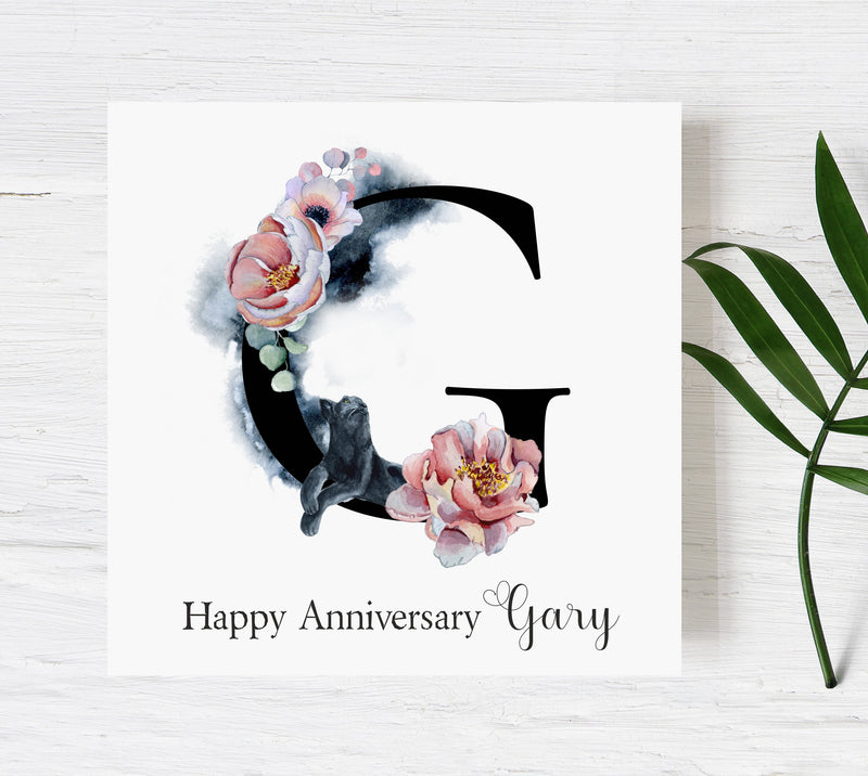 Panther Personalised Love Card PureEssenceGreetings
