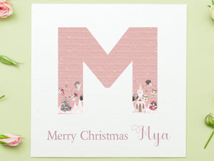 Personalised Cherubs Design Christmas Card PureEssenceGreetings