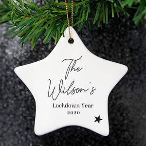 Personalised Free Text Ceramic Star Decoration PureEssenceGreetings