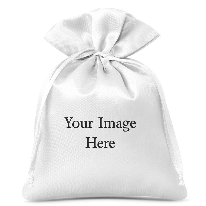 Personalised Gift Bag/Pouch | Satin Feel | Own image/Text PureEssenceGreetings