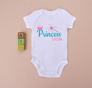 Personalised Girl's Babygrow - Little Princess PureEssenceGreetings