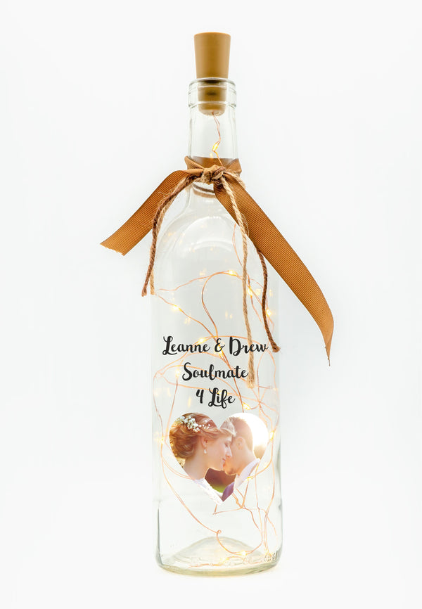 Personalised LED Candle Bottle | Own Image & Text PureEssenceGreetings