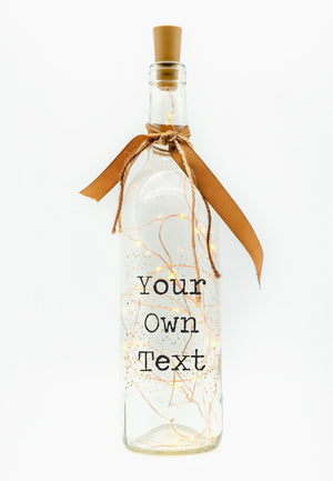 Personalised LED Candle Bottle | Own Text PureEssenceGreetings