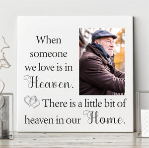 Personalised Memorial Ceramic Plaque - Heaven in Our Home PureEssenceGreetings